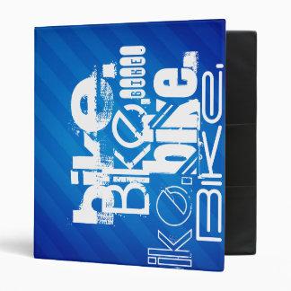 Bike; Biking Royal Blue Stripes 3 Ring Binders