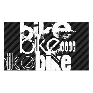 Bike; Black & Dark Gray Stripes Business Card