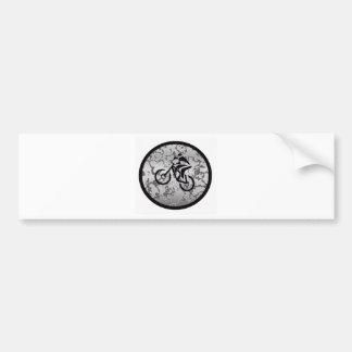 Bike BLACK GREYED Bumper Sticker