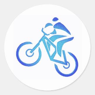 Bike Blue Bayou Classic Round Sticker