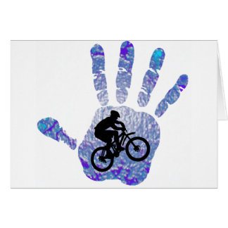 Bike Blue Bird Card