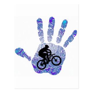 Bike Blue Bird Postcard