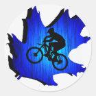 Bike Blue Oak Classic Round Sticker