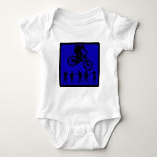 Bike Blue Souls Baby Bodysuit