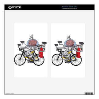 Bike Brain (cyclist of the year 3000) Decals For Kindle Fire