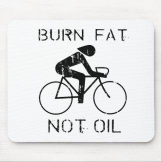 BIKE: Burn fat not oil T-shirt Mouse Pad