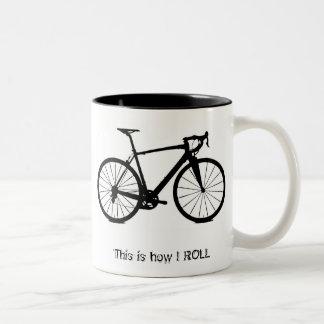 Bike bw, éste es cómo RUEDO Taza De Café De Dos Colores