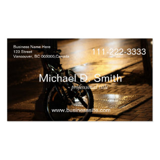 bike by street night photo Double-Sided standard business cards (Pack of 100)