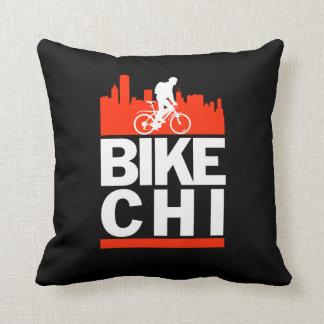 Bike Chicago Throw Pillows