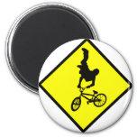 Bike Crossing Sign Fridge Magnet