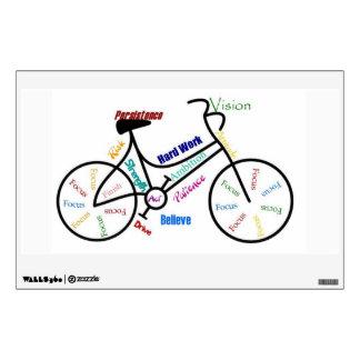 Bike, Cycle Motivational Words for Biking Fan Wall Sticker