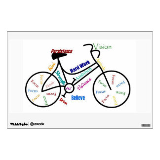 Bike, Cycle Motivational Words for Biking Fan Wall Graphic