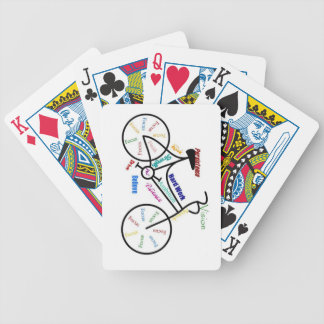 Bike, Cycle, Sport, Biking, Motivational  Words Bicycle Playing Cards
