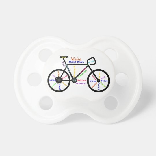 Bike, Cycle with Motivational Words Sport Pacifier