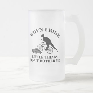 Bike Cycling Bicycle Frosted Glass Beer Mug