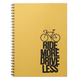Bike Cycling Bicycle Riding Biker Less Note Books