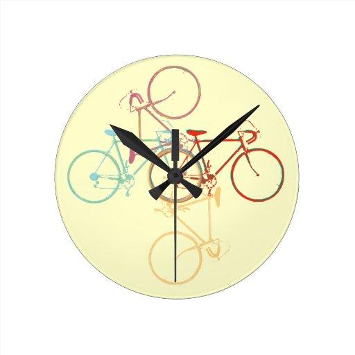 bike - cycling pattern wallclocks