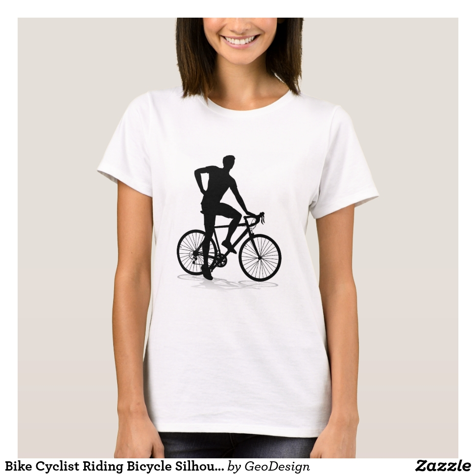 Bike Cyclist Riding Bicycle Silhouette T-Shirt - Best Selling Long-Sleeve Street Fashion Shirt Designs