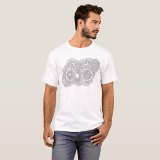 Bike Drawing Meditation (Black & White) T-Shirt