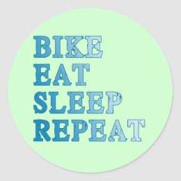 Bike, Eat, Sleep, Repeat Products Classic Round Sticker