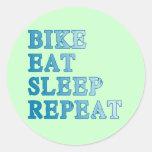Bike, Eat, Sleep, Repeat Products Round Sticker
