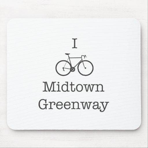 Bike el Greenway del Midtown Alfombrilla De Ratón