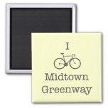 Bike el Greenway del Midtown Iman Para Frigorífico
