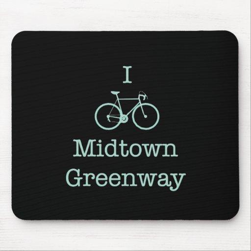 Bike el Greenway del Midtown Alfombrillas De Ratones
