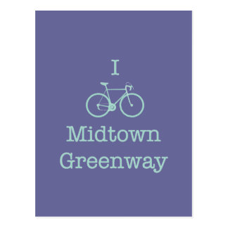 Bike el Greenway del Midtown Tarjeta Postal