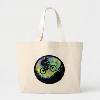 Bike el planeta bolsa de tela grande