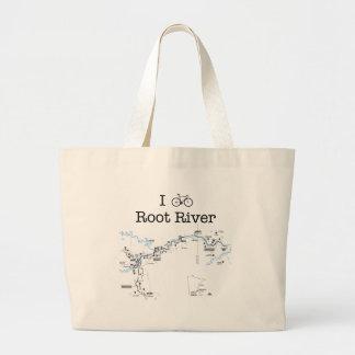 Bike el río de la raíz bolsa tela grande