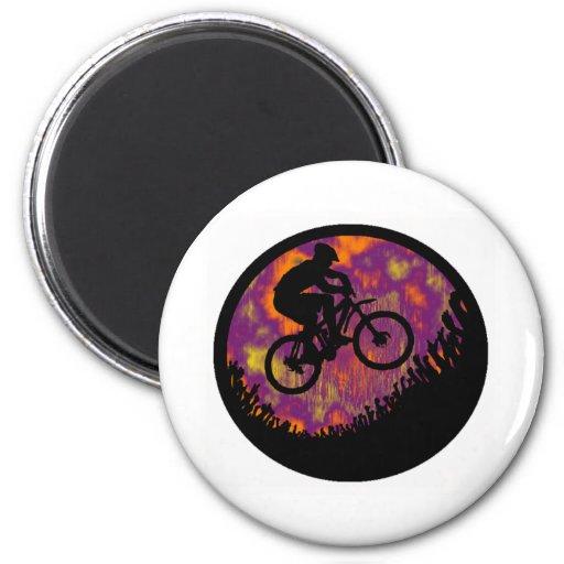 bike evening cruise fridge magnets