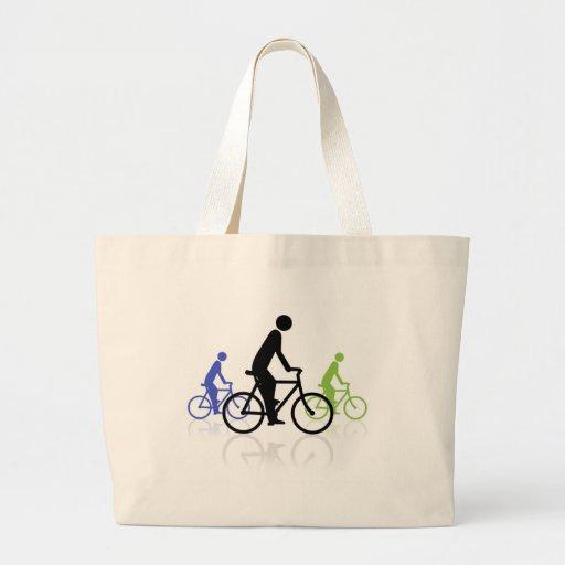 Bike event jumbo tote bag