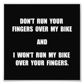Bike Fingers Photo Print