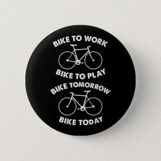 Bike Forever - Cool Cycling Pinback Button
