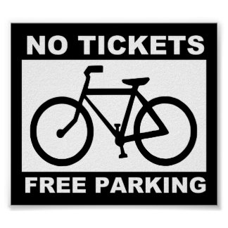 bike_free_parking_Vector_Clipart Poster