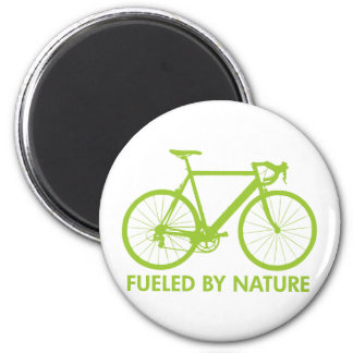 Bike Fueled by Nature 2 Inch Round Magnet