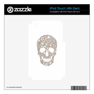 Bike Gear skull iPod Touch 4G Decal