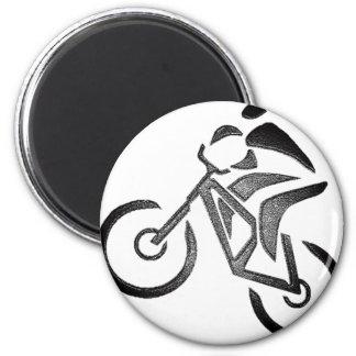 Bike Glow Style 2 Inch Round Magnet