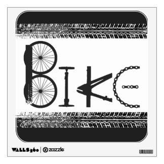 """Bike"""" Graffiti from Bike Parts & Tire Tracks Wall Decal"""