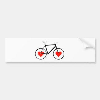Bike Heart Wheels Bumper Sticker