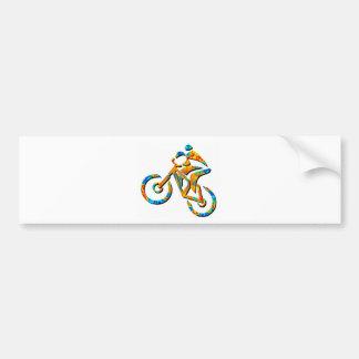 Bike Heel Stoned Bumper Sticker