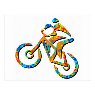 Bike Heel Stoned Postcard