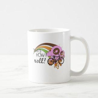 Bike How I Roll (Pink) Coffee Mug