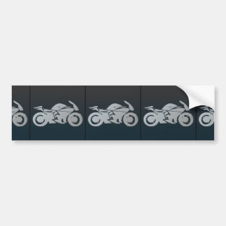 bike_icon_Vector_Clipart MOTORCYCLE MOTORBIKE STRE Bumper Sticker