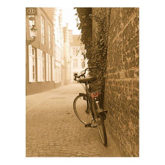 Bike in Belgium Postcard