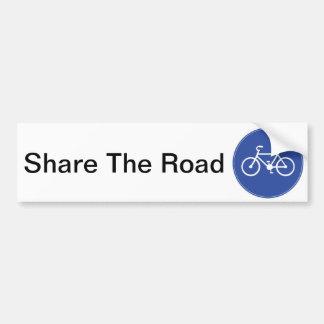Bike in Blue Car Bumper Sticker