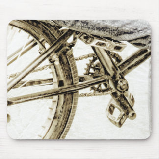 Bike in bowl park mouse pad