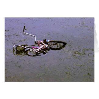 Bike In Pond Card