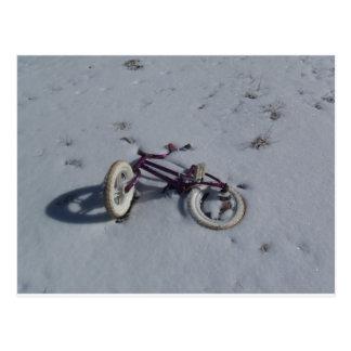 Bike in the Snow Postcard